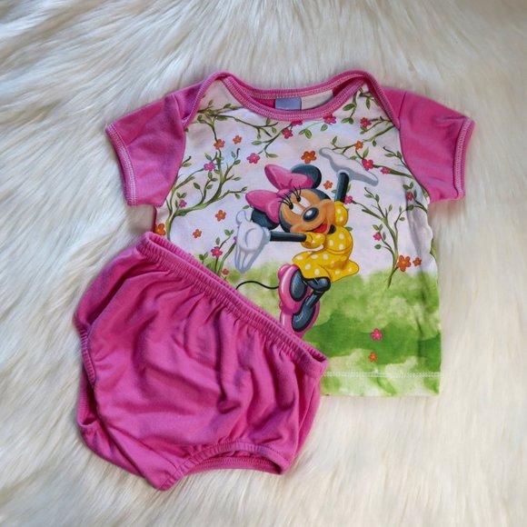 Minnie Mouse Pajama set 6-9m